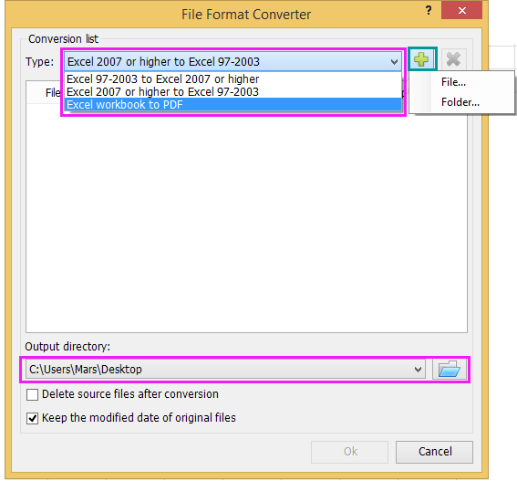 How To Quickly Convert XLSX File To XLS Or PDF File?