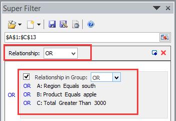 doc kte filter por criterios comodín 9