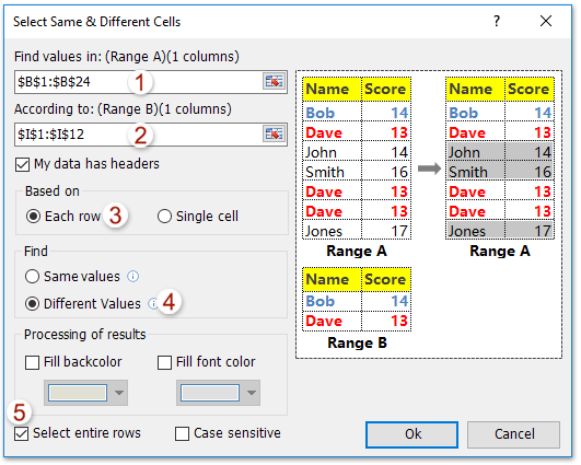 doc filter by list of values kte 2