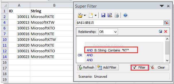 doc kte filter por subcadena 4