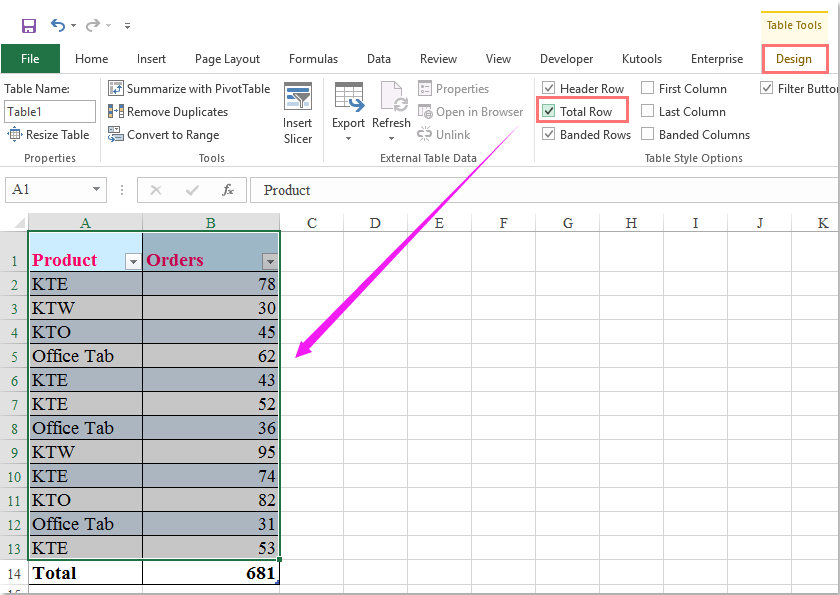 doc filter exclude total row 3