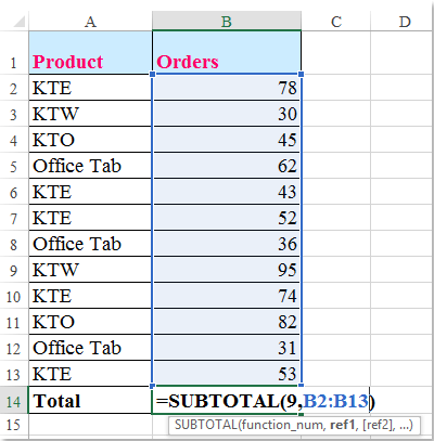 doc filter exclude total row 5
