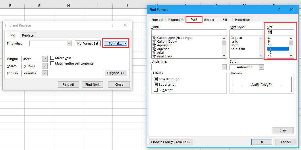doc filter font size 2