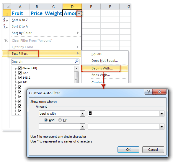 How to filter cells with formulas in Excel?