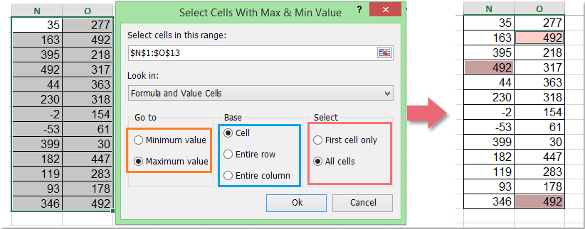 doc find cell address min max 8