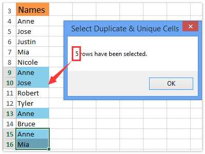 How to find and count duplicate cells/values in a single row in Excel?