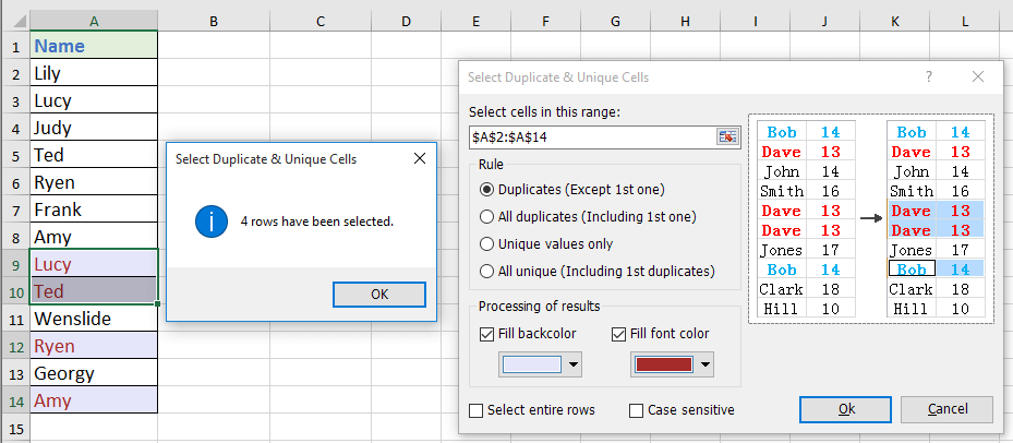 doc find duplicates without removing 10