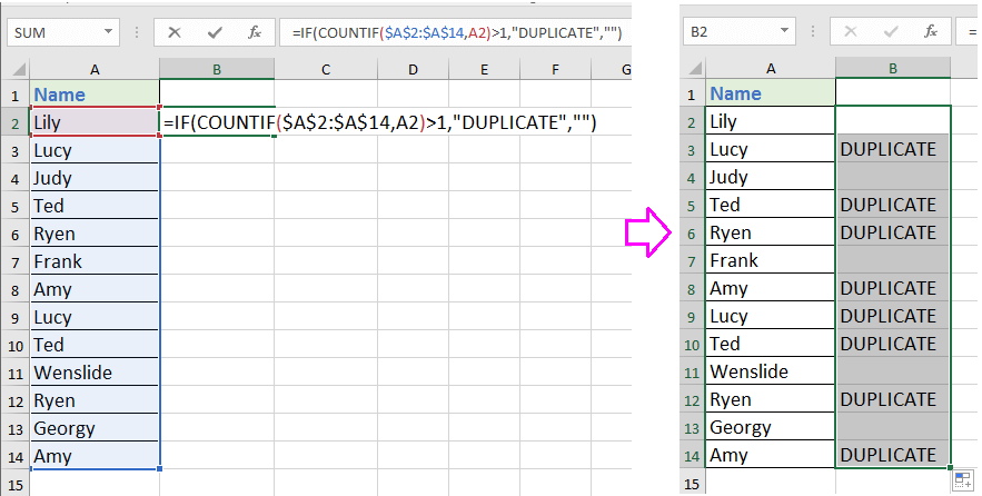 doc find duplicates without removing 5