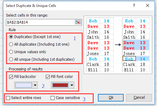 doc find duplicates without removing 8