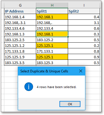 doc kutools select duplicate unique cells 3