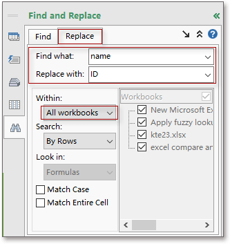 doc find replace multiple workbooks 2