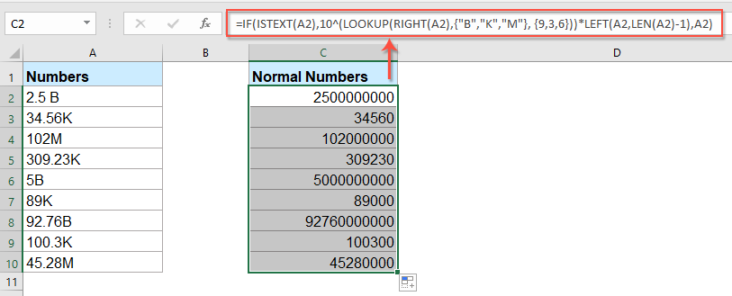 How To Format Numbers In Thousands