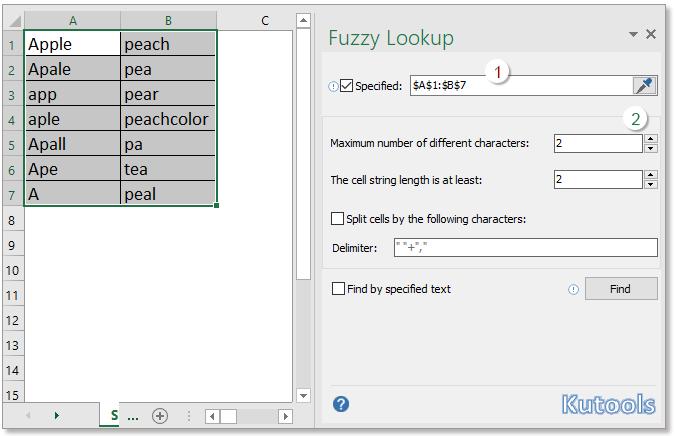 doc fuzzy lookup 12