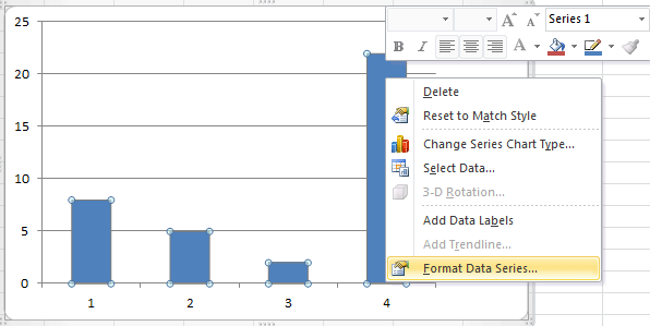 How to change gap width in Excel quickly?