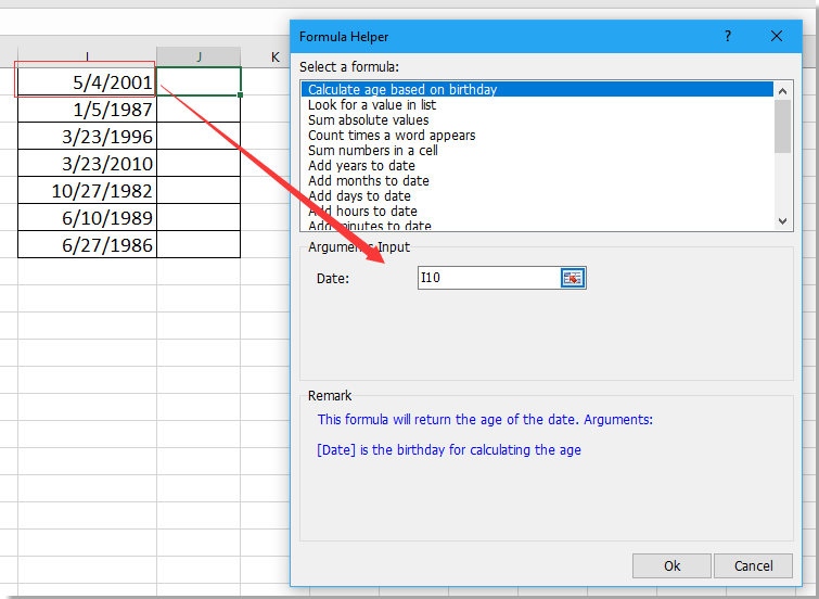 How to get date of birth from ID number in Excel?