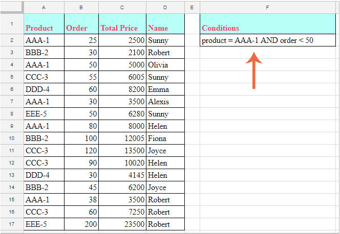 doc filter multiple conditions 3