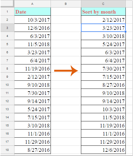 doc sort by month 2