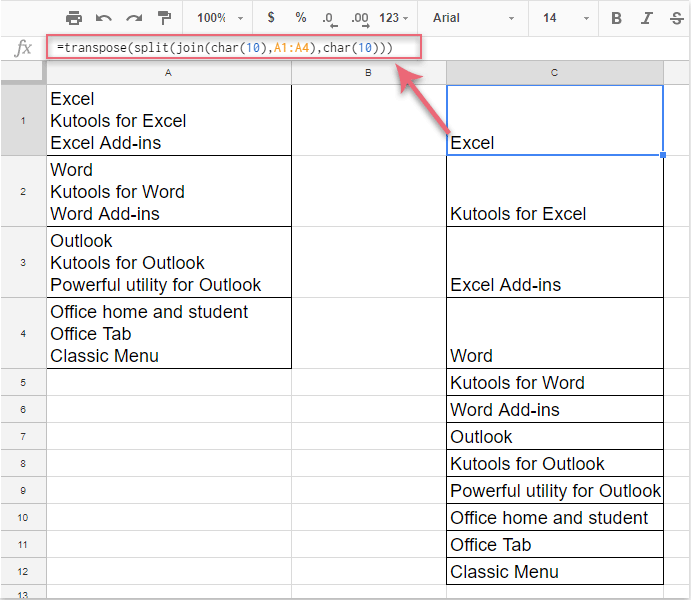 How To Split Cell Contents Into Columns Or Rows Based On