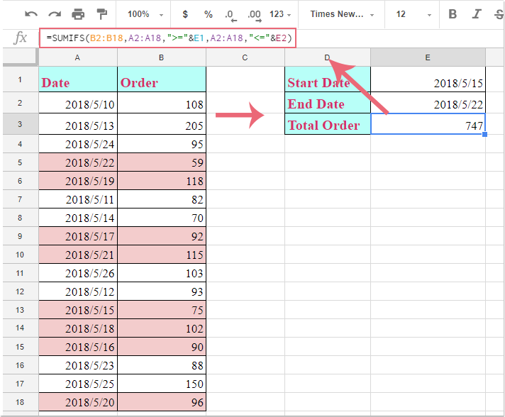 doc google sheets sumif between dates 2