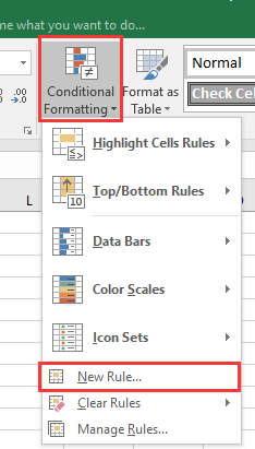 How to grey out cells based on another column or drop down list