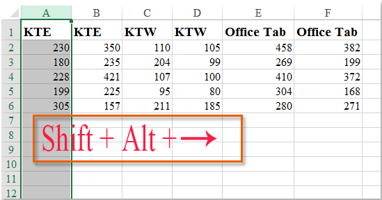 doc group adjacent columns 2