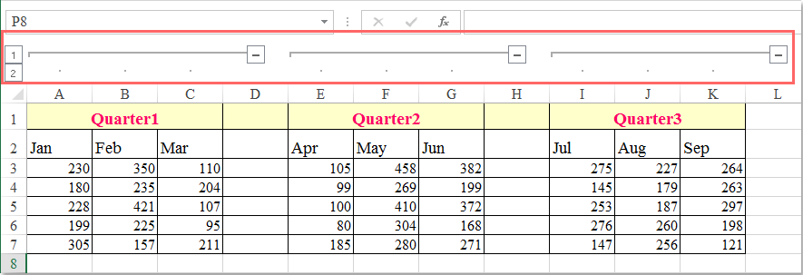 doc group adjacent columns 8
