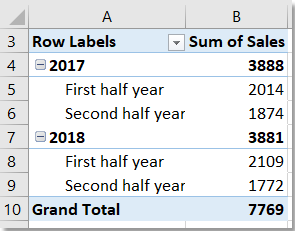doc group by half a year pivottable 10