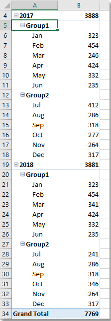 doc group by half a year pivottable 7