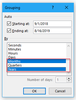 How To Group Date By Month, Year, half year or other