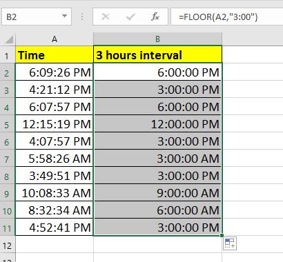 groupe de documents temps par intervalle 2