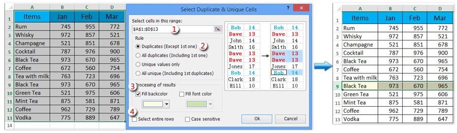 doc highlight last duplicate 11
