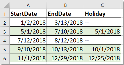 doc format dates cells 4