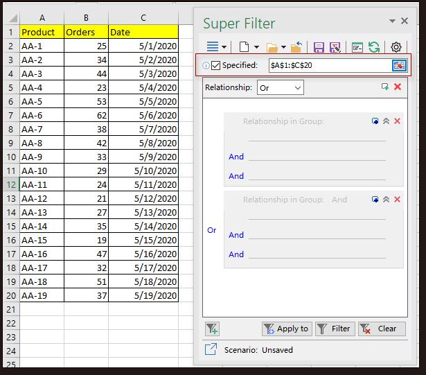 doc kutools super filter 2