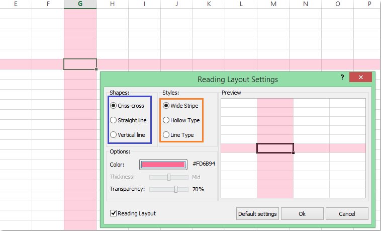 reading layout