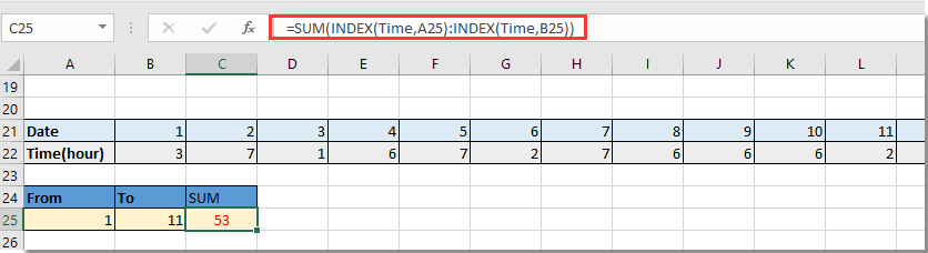 doc hlookup sum 6