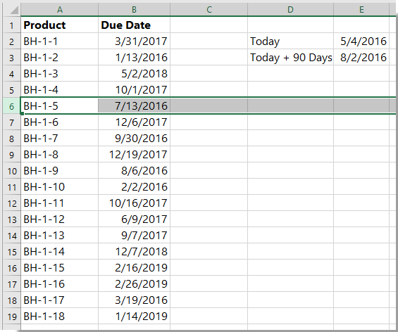 doc identify expired upcoming date 15