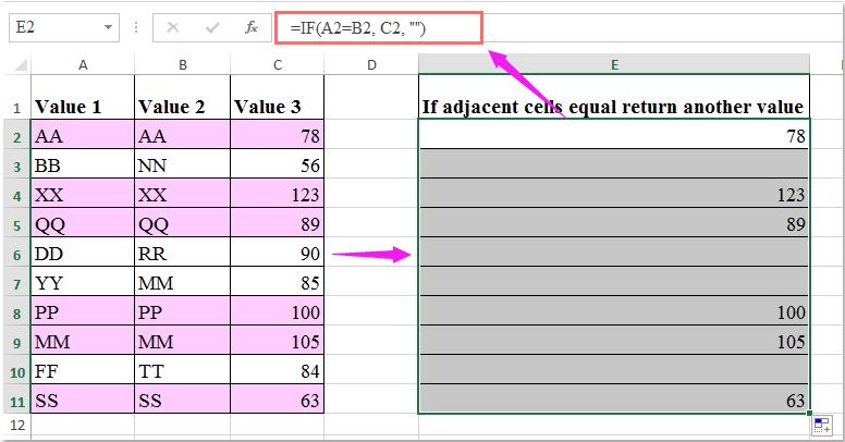 doc if equal return 2
