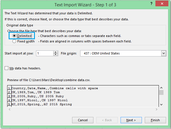 doc import csv file 3