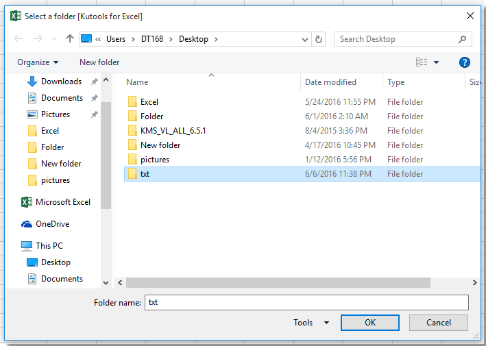 doc import text files from a folder 1
