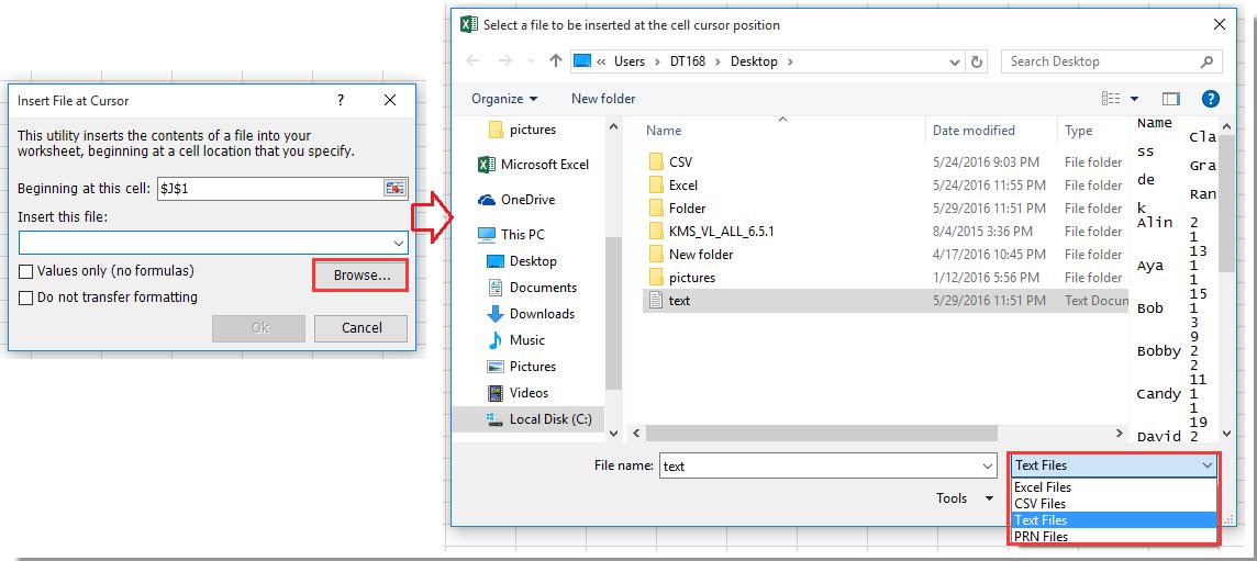 doc importar archivos de texto desde una carpeta 4