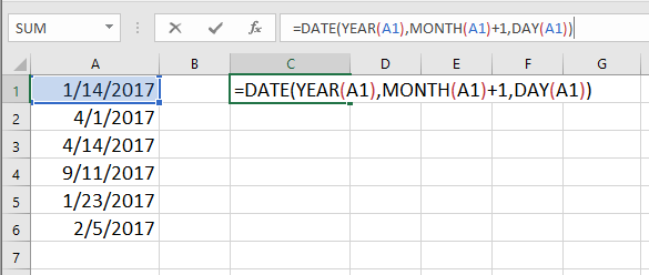doc increment date by month 6