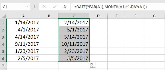 doc inkrement datum za mesec 7