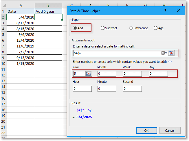 doc kutools date time helper 2
