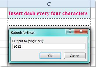 doc insérer chaque caractère x 5