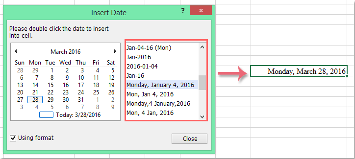 doc insert date with format