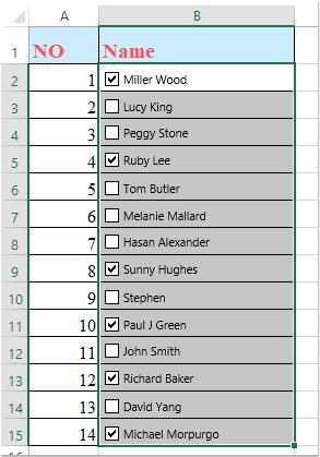 Come inserire rapidamente più checkbox in Excel?