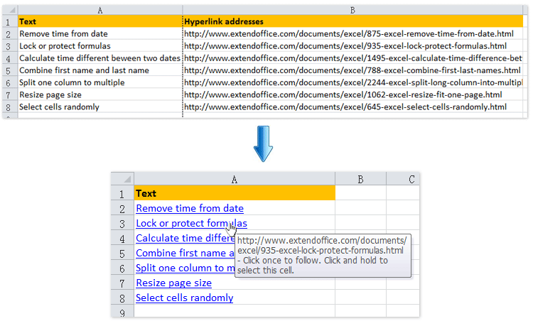 How to insert multiple hyperlinks in a cell/many cells in Excel?