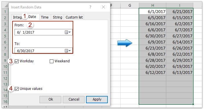 How to insert random (integer) numbers between two numbers