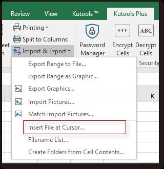 doc kutools insert file at cursor 1