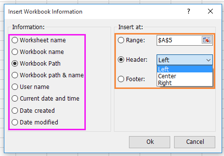 doc insert workbook information 2